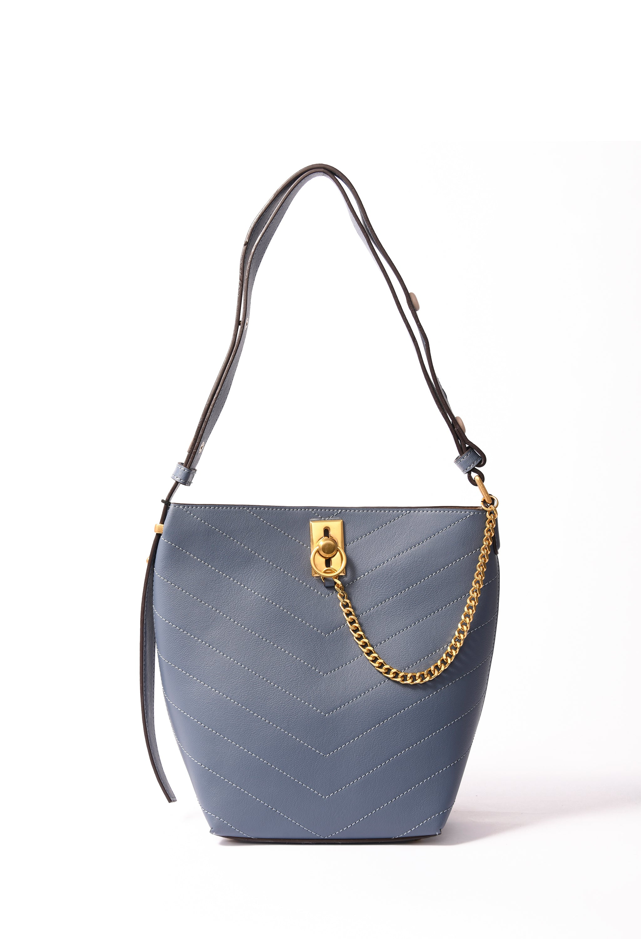Sierra Bag in genuine leather, Blue