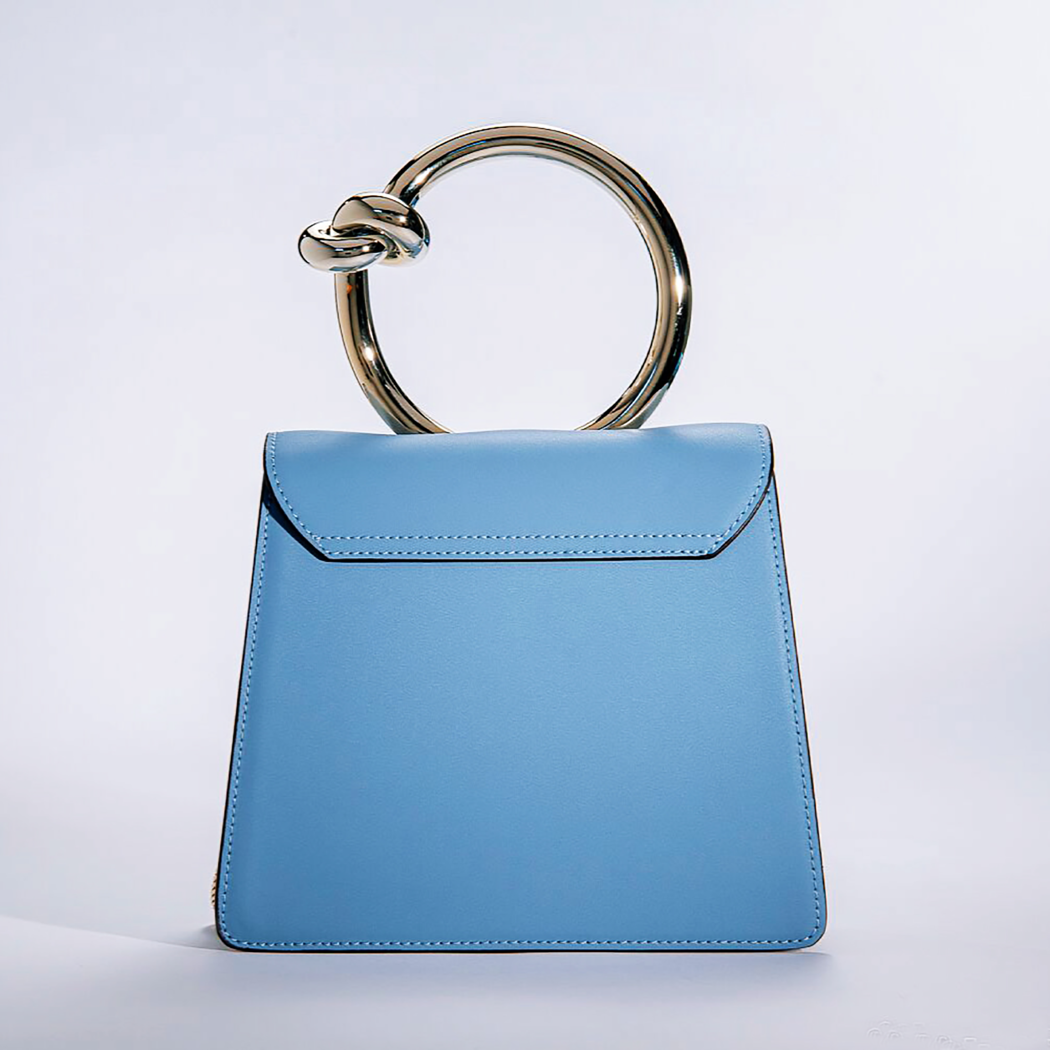 Popular metal handle shoulder bag