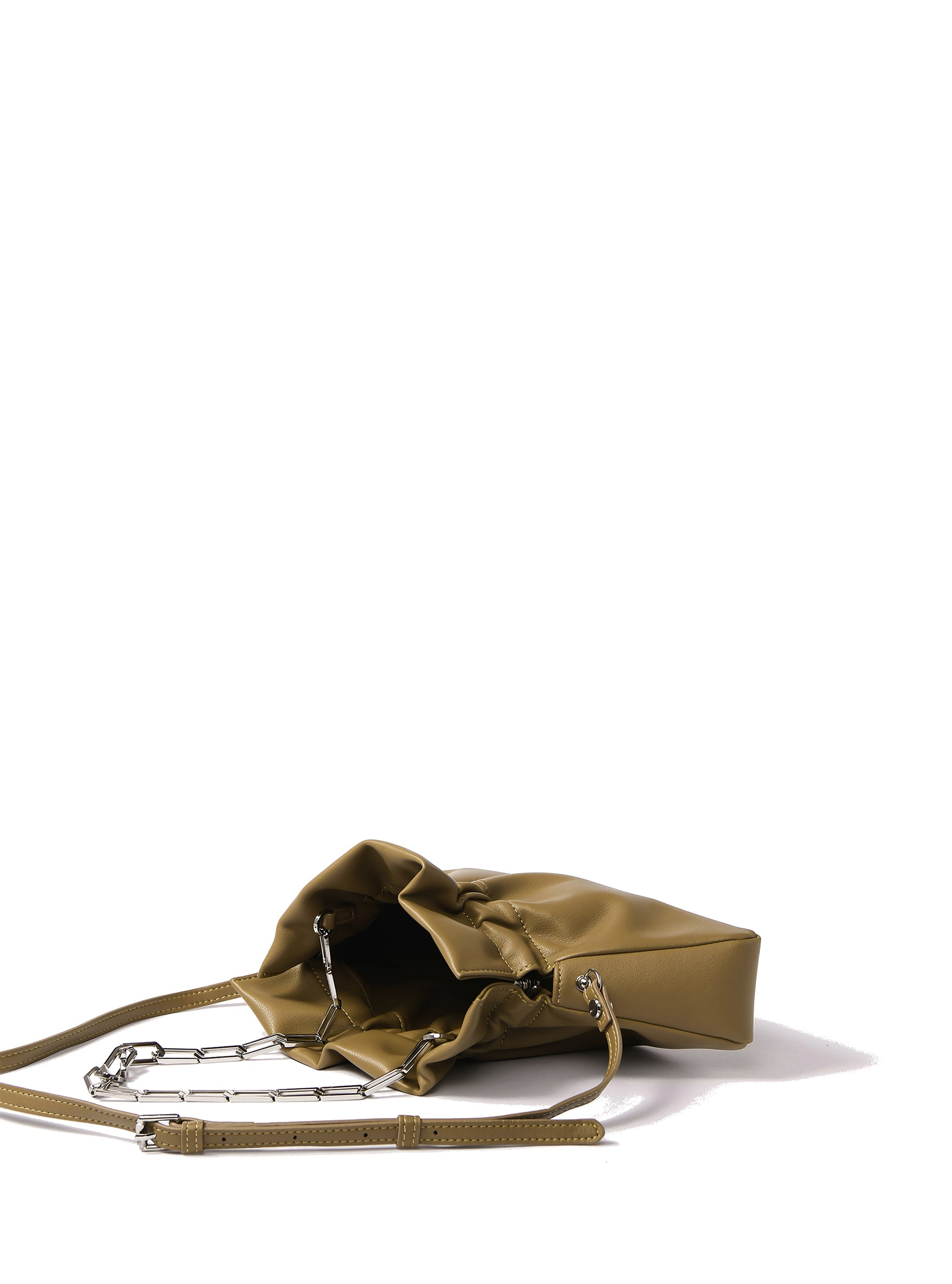Mila Bag in smooth leather, Mustard Green