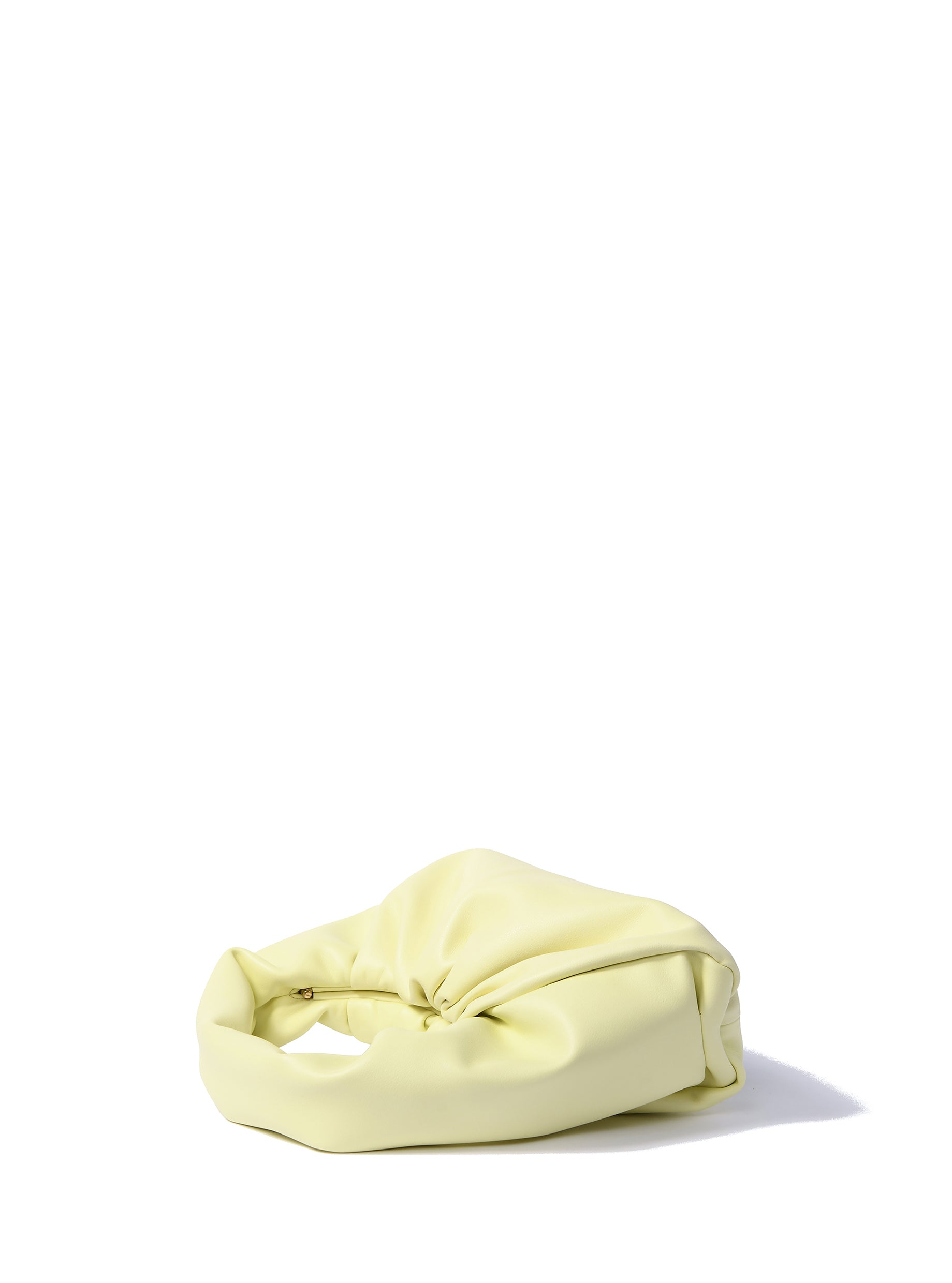 Marshmallow bag in soft leather, Bright Yellow
