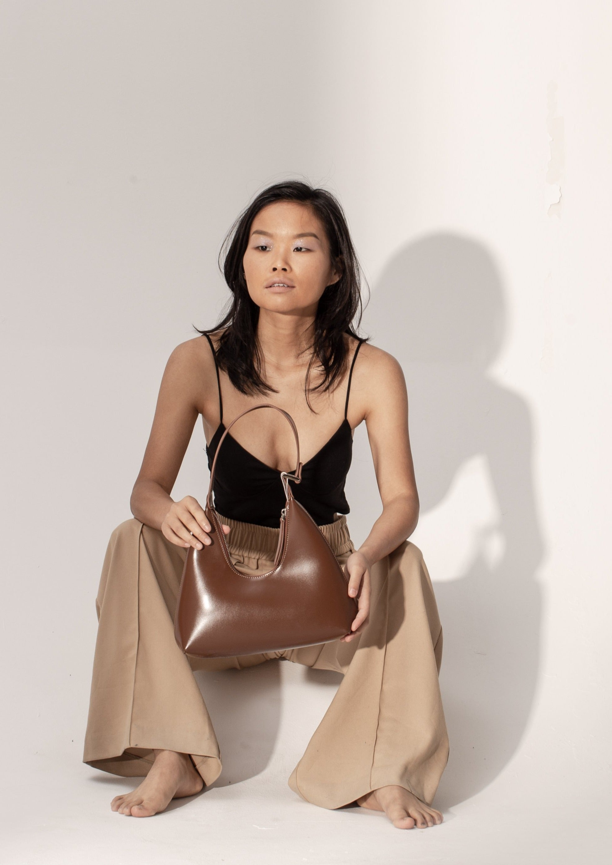 Alexia Bag in smooth leather, Caramel