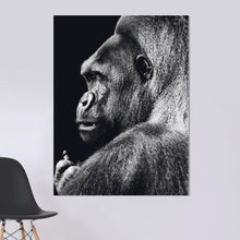 Load image into Gallery viewer, Schilderij-Dark Gorilla No1-PosterGuru