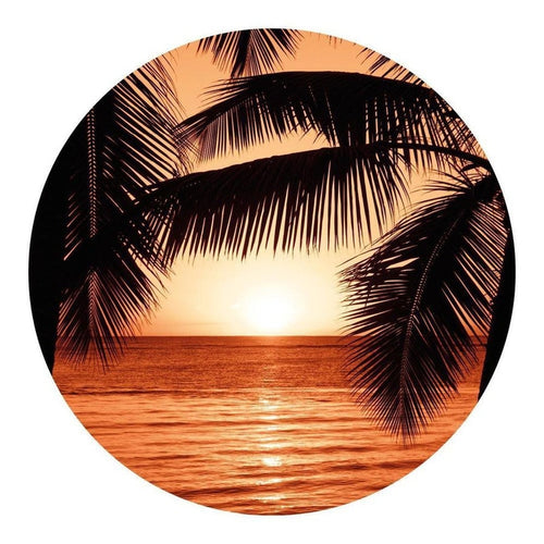 Schilderij-Palm Sunset-PosterGuru