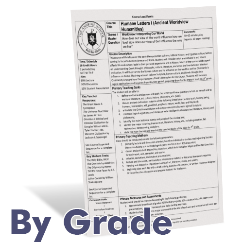 Ambrose Curriculum Guide: By Grade (K–6) / By Discipline (7–12)
