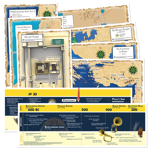 God's Great Covenant New Testament Timeline & Map Set