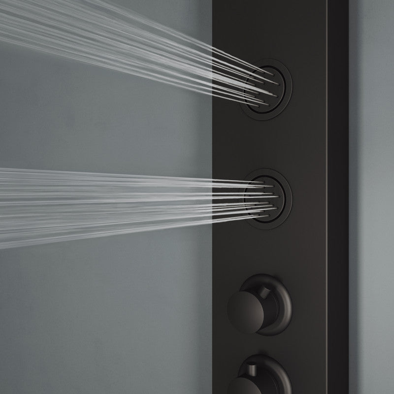 VIGO ELLINGTON SHOWER PANEL IN MATTE BLACK