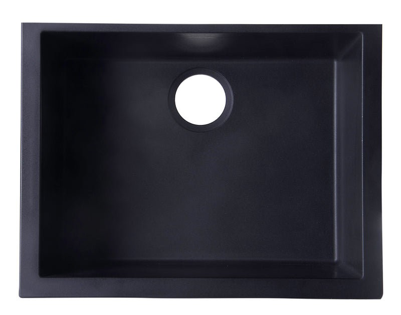 "ALFI brand Undermount Single Bowl Granite Composite Kitchen Sink 23.63""L x 17.75""W - LUXLLEY"