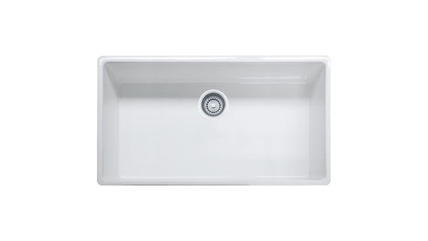 "ALFI brand Smooth Apron Single Bowl Fireclay Farm Sink 36""L x 20""W - LUXLLEY"