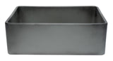 "ALFI brand Concrete Color Reversible Single Fireclay Farmhouse Kitchen Sink 30""L x 21""W - LUXLLEY"