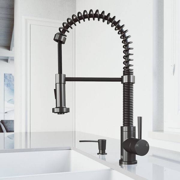 VIGO Edison Pull-Down Spray Kitchen Faucet - LUXLLEY