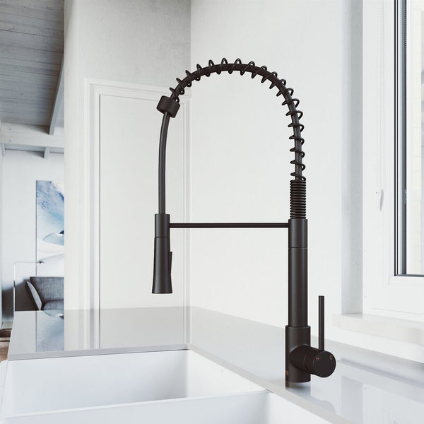 VIGO Laurelton Pull-Down Spray Kitchen Faucet - LUXLLEY
