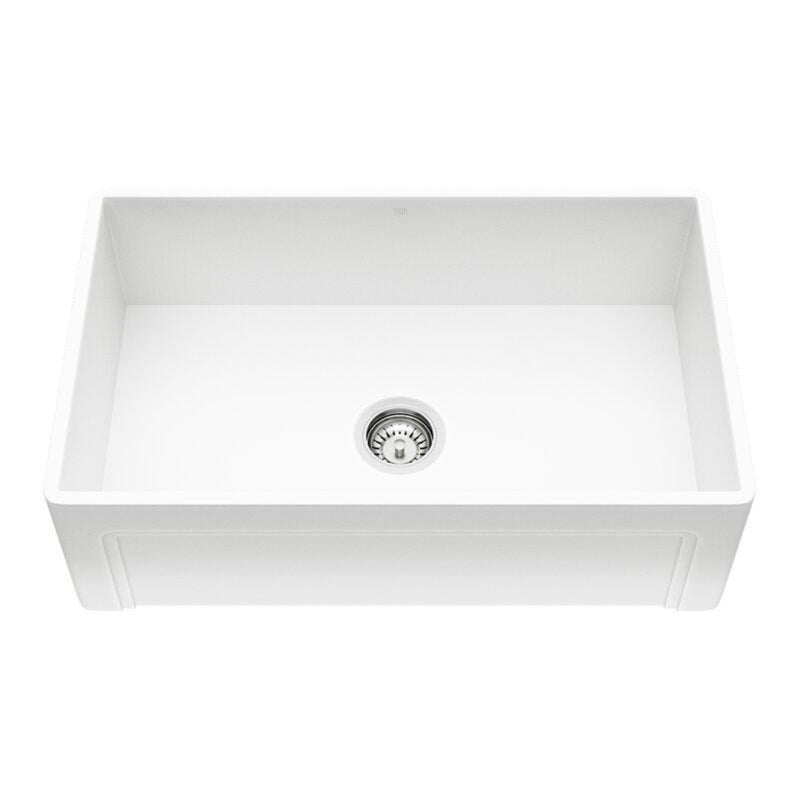"VIGO Casement Front Matte Stone™ Farmhouse Kitchen Sink 30""L x 18""W - LUXLLEY"