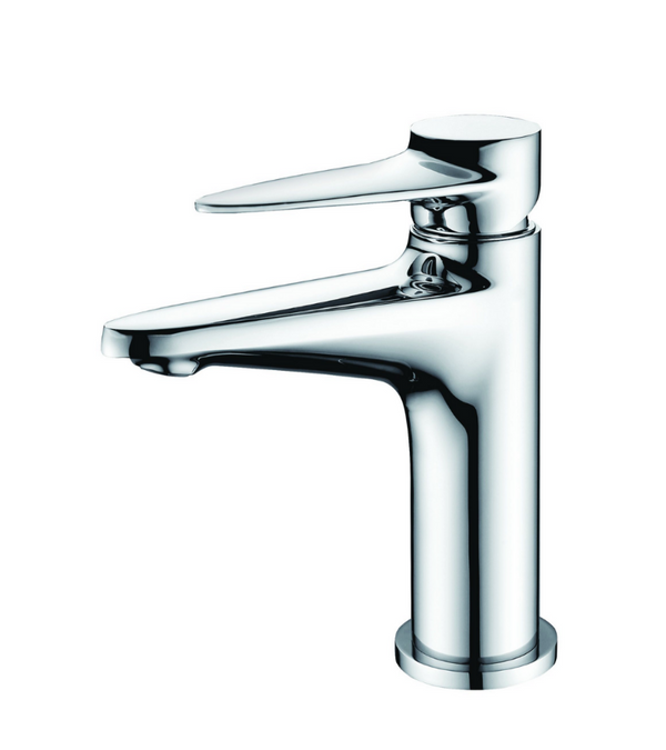 ALFI brand  Polished Chrome Modern Single Hole Bathroom Faucet