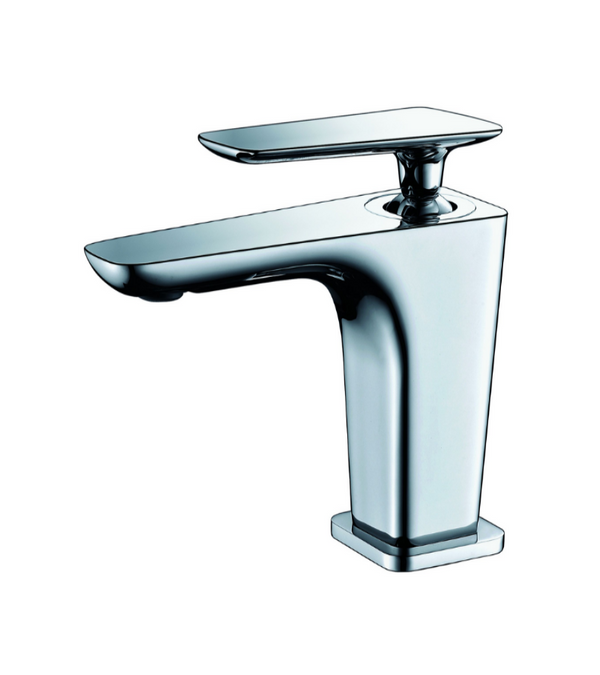 ALFI brand  Polished Chrome Single Hole Modern Bathroom Faucet