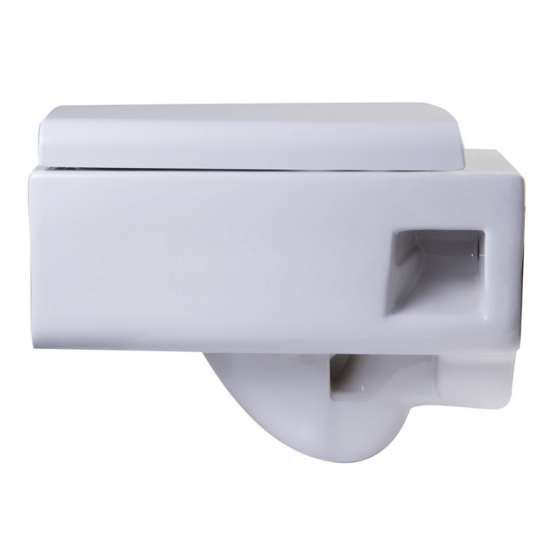 EAGO Square Modern Wall Mount Dual Flush Toilet Bowl
