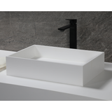 "ALFI brand 20"" x 14"" White Matte Solid Surface Resin Sink"