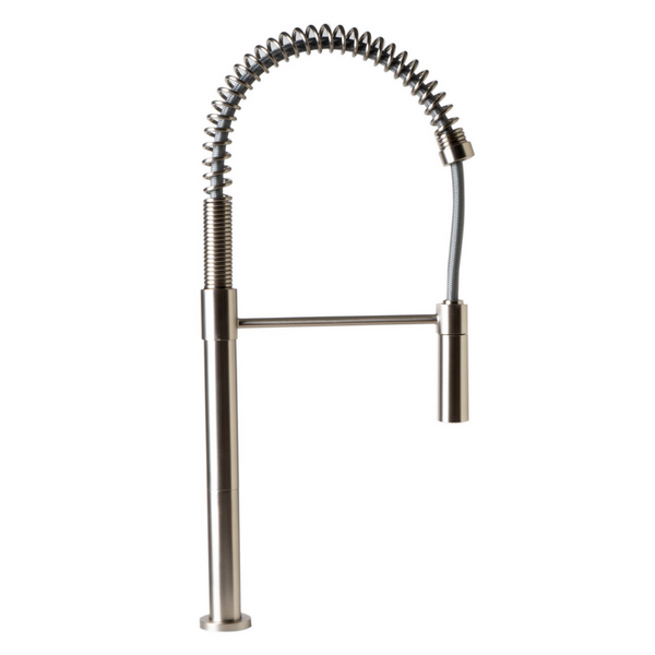 ALFI brand Brushed Nickel Commercial Spring Kitchen Faucet