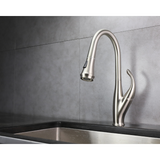 LEXORA Garbatella Brass Kitchen Faucet w/ Pull Out Sprayer