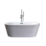 LEXORA Lure 59 inch Free Standing Acrylic Bathtub with Chrome Drain