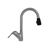 Whitehaus Collection Rainforest Single Hole/Single Lever Handle Faucet with Black Spray Head