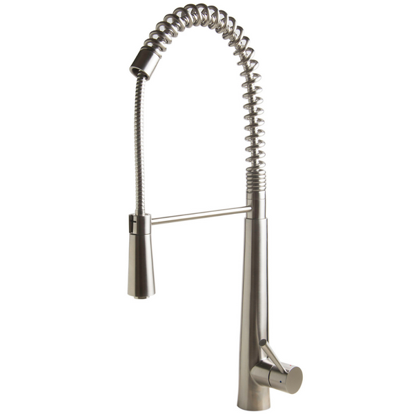 ALFI brand  Solid Stainless Steel Commercial Spring Kitchen Faucet