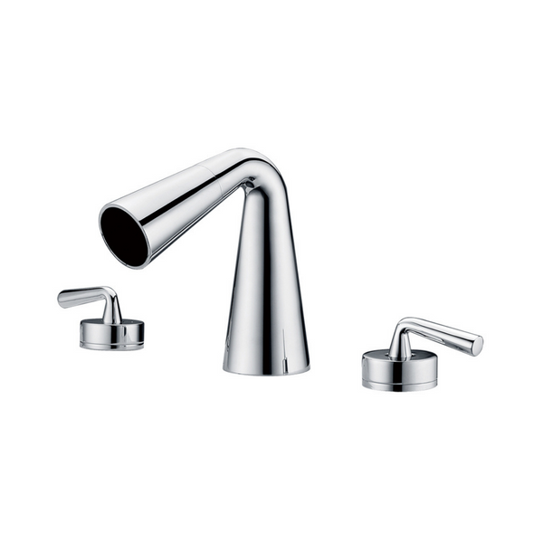 ALFI brand  Polished Chrome Widespread Cone Waterfall Bathroom Faucet