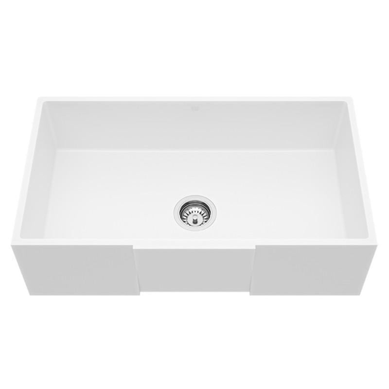 "VIGO Square Front Matte Stone™ Farmhouse Kitchen Sink 33""L x 18""W - LUXLLEY"
