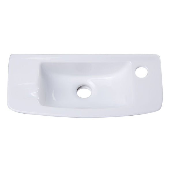 ALFI brand  Small White Wall Mounted Porcelain Bathroom Sink Basin