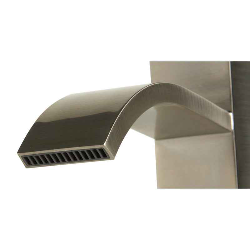 ALFI brand  Tall Brushed Nickel Tall Square Body Curved Spout Single Lever Bathroom Faucet