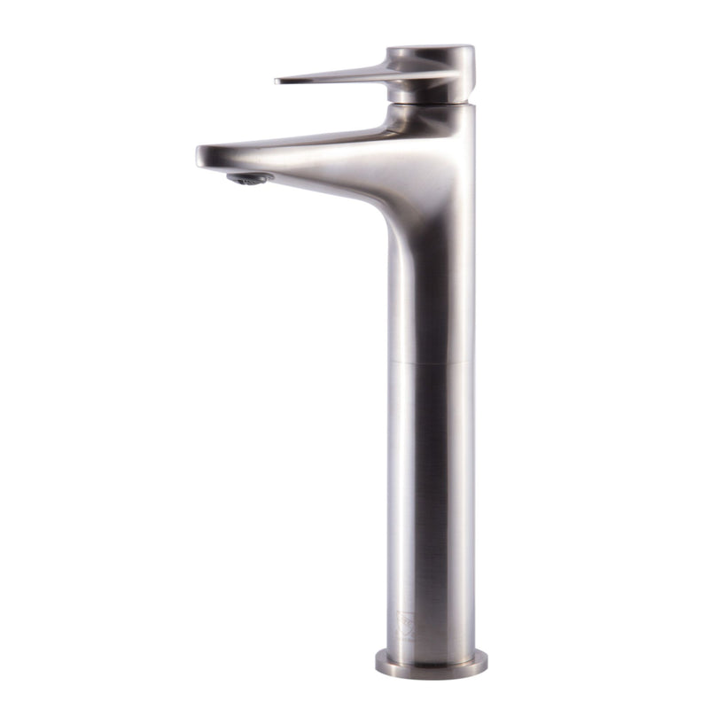 ALFI brand Brushed Nickel Tall Single Hole Bathroom Faucet