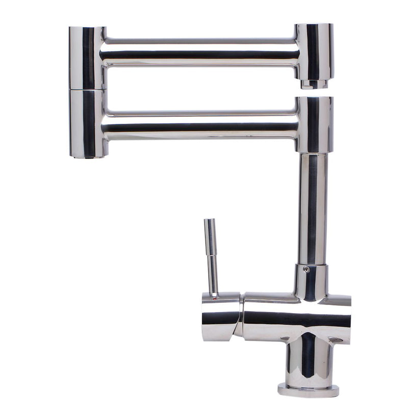 ALFI brand (Pot Filler) Solid Polished Stainless Steel Retractable Single Hole Kitchen Faucet
