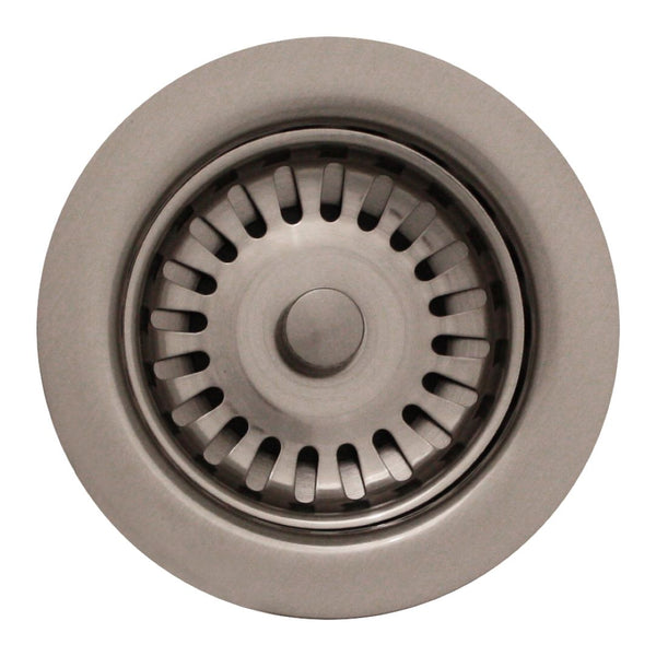 "Whitehaus 3 1/2"" Basket Strainer for Deep Fireclay Application"