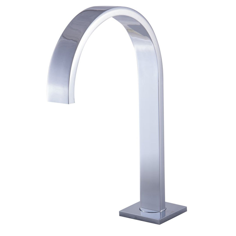 ALFI brand  Polished Chrome Gooseneck Widespread Bathroom Faucet