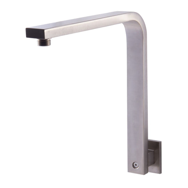 "ALFI brand  Brushed Nickel 12"" Square Raised Wall Mounted Shower Arm"