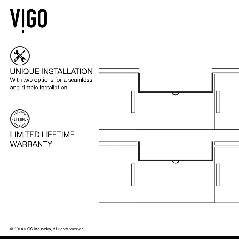 "VIGO Flat Apron Front Matte Stone™ Farmhouse Kitchen Sink 36""L x 18""W - LUXLLEY"