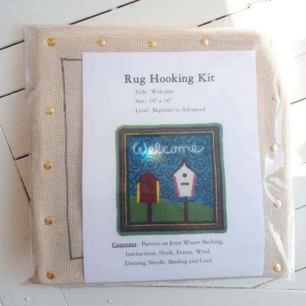 Large Molly Made rug hooking kit titled 'welcome'.