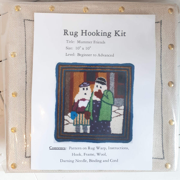 Large Molly Made rug hooking kit titled 'mummer friends'.