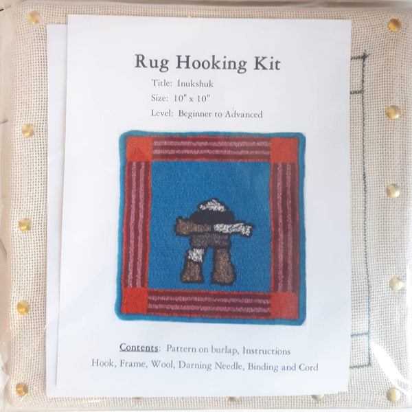 Large Molly Made rug hooking kit titled 'inukshuk'.