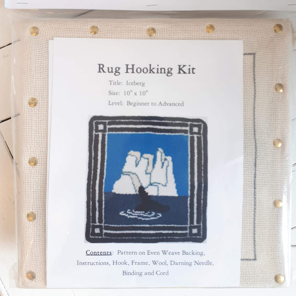 Large Molly Made rug hooking kit titled 'iceberg'.