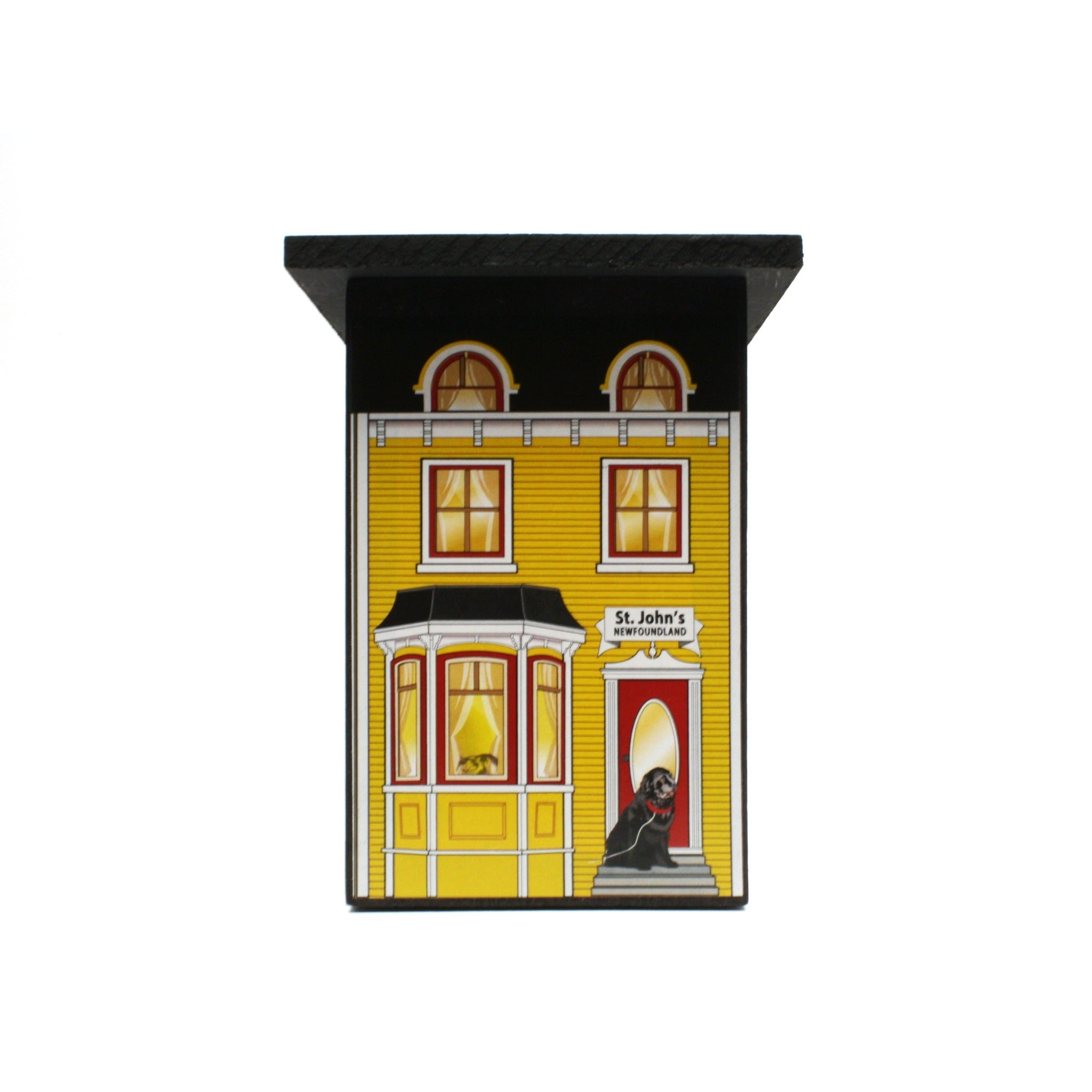 yellow St. John's house with white trim