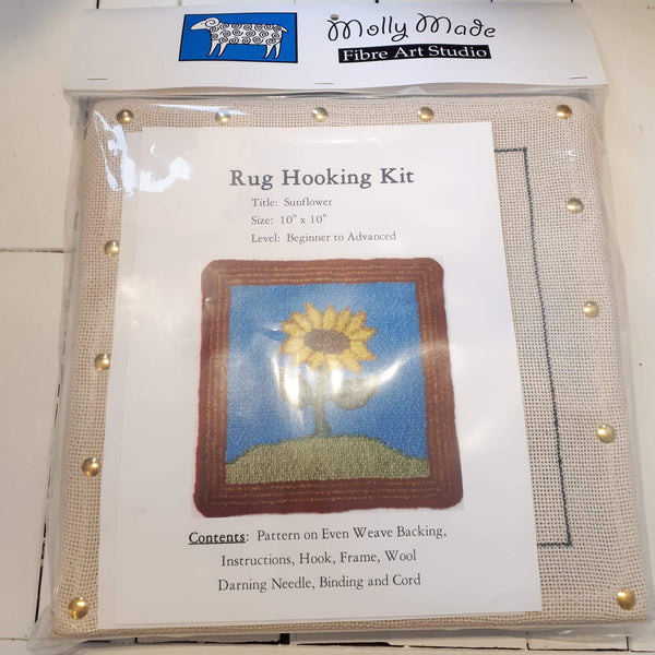 Molly Made large sunflower rug hooking kit