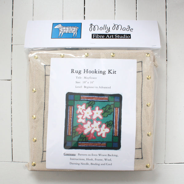 Molly Made Large Mayflower rug hooking kit on white background