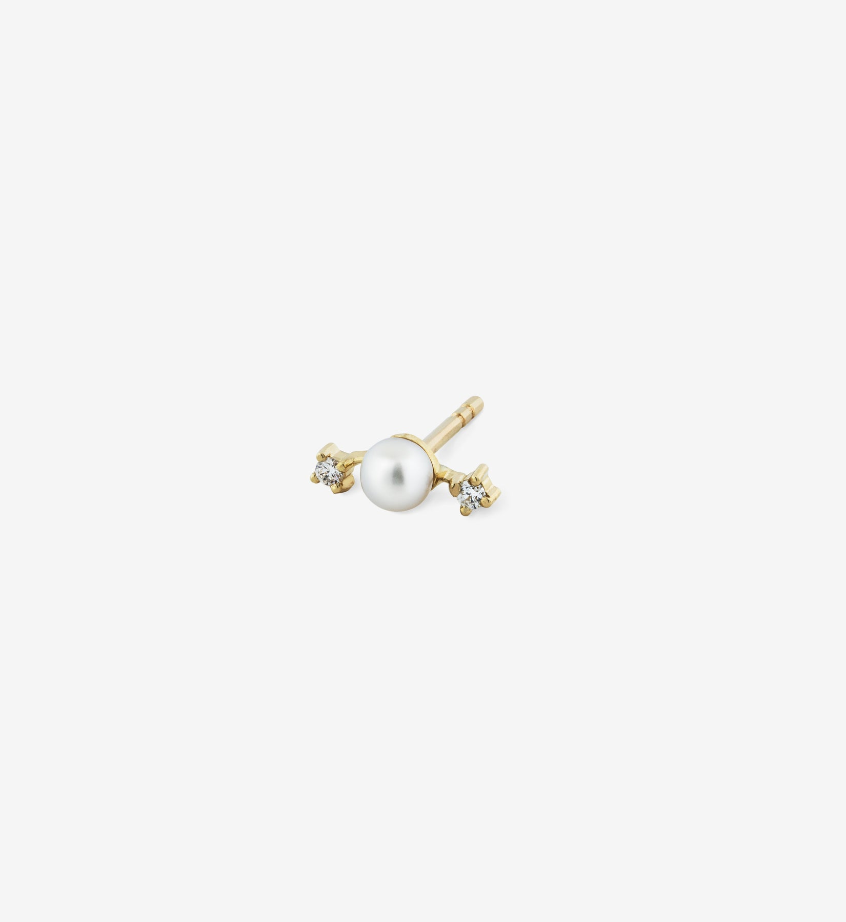 Double Diamond Pearl Stud 04 - Single