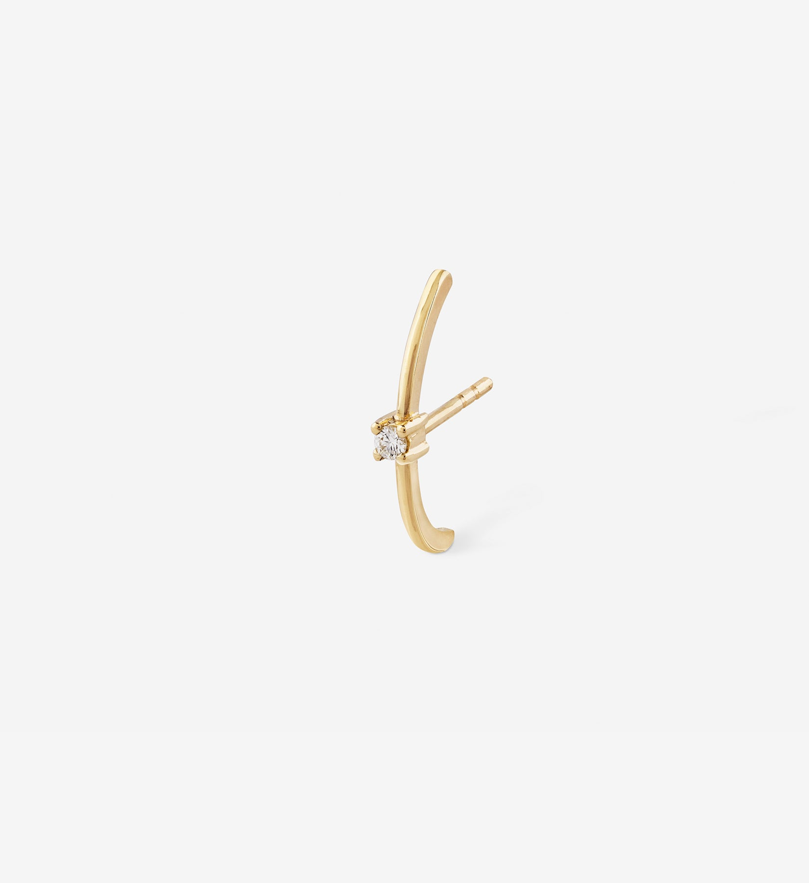 Diamond Earring 0.04 in 14K Gold - Single