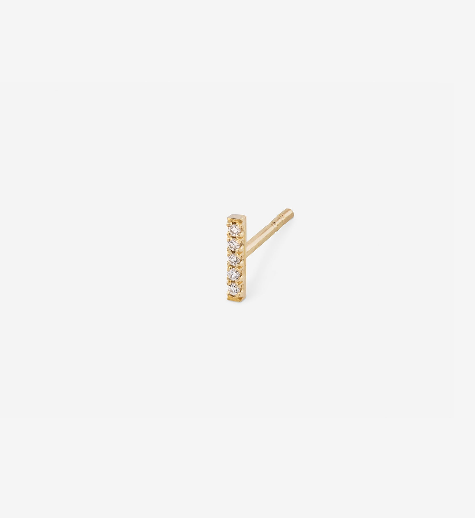 Diamond Line Earring 0.025 in 14K Gold - Single