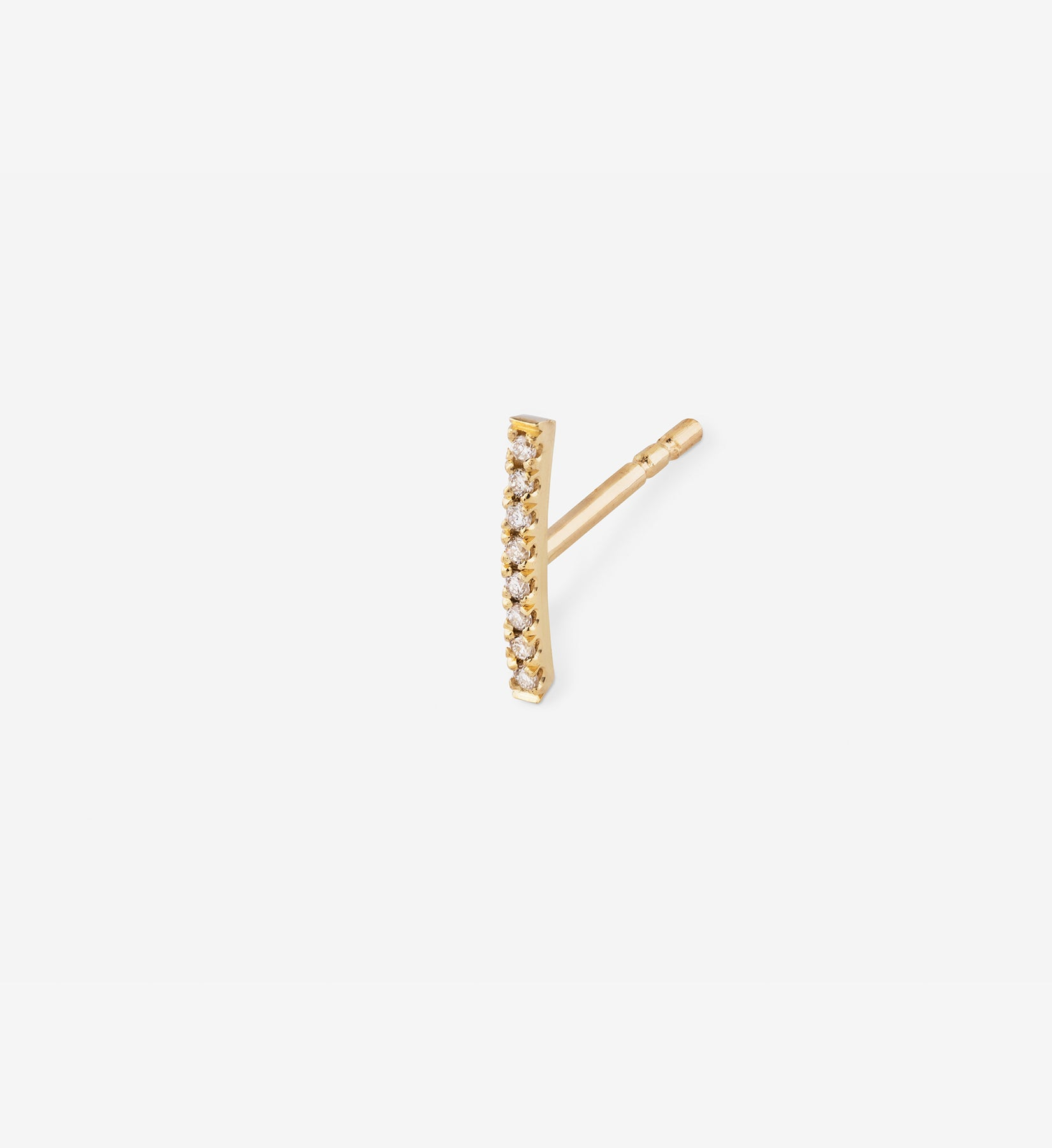 Diamond Line Earring 0.04 in 14K Gold - Single