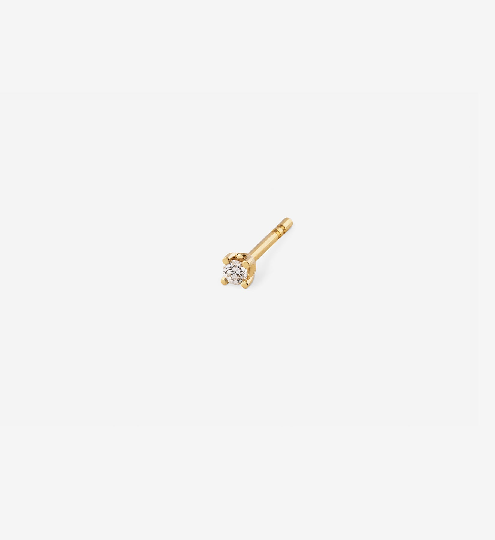 Diamond Stud 0.04 in 14K Gold - Single