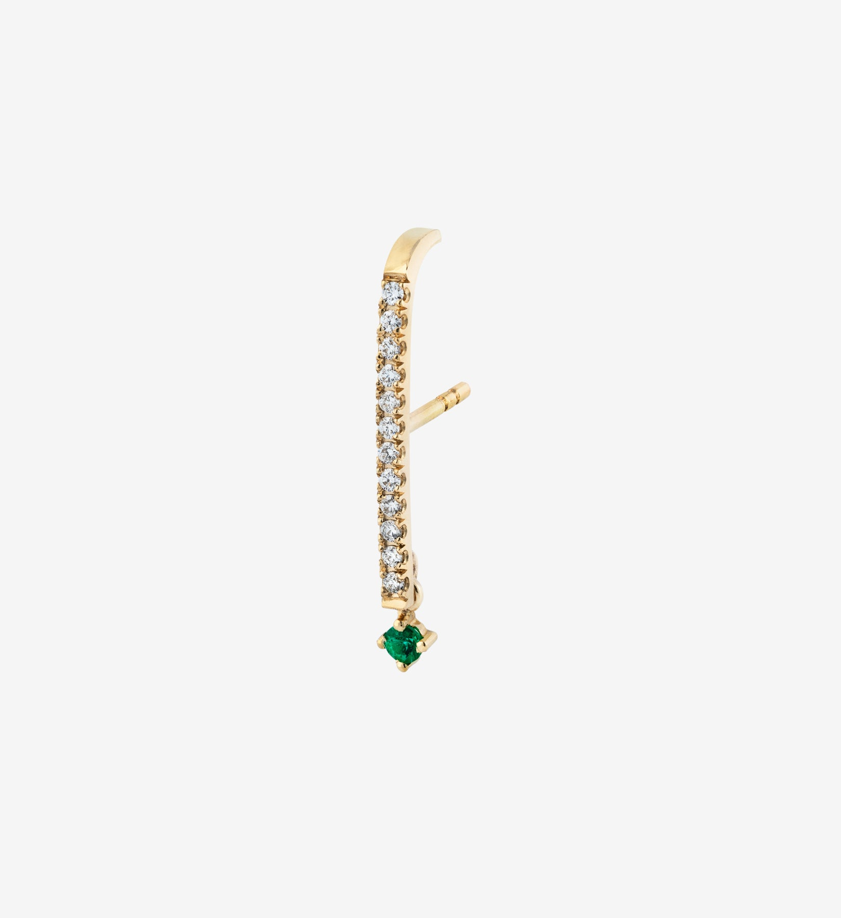 Emerald Drop Diamond Earring 0.21 - Single