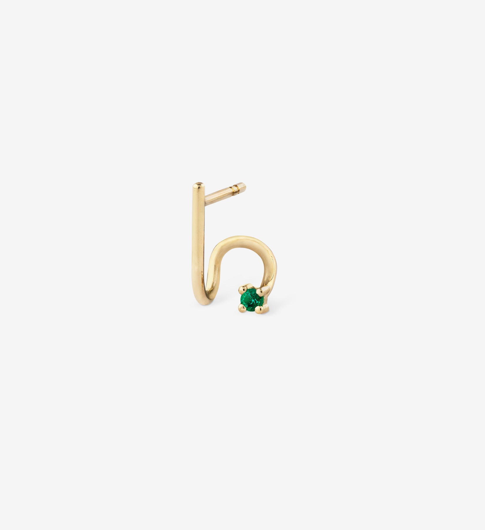 Emerald Spiral Earring 0.04 - Single