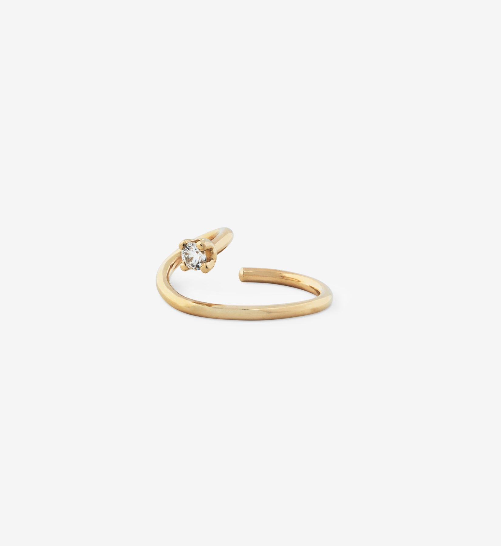 OUVERTURE, Fine jewelry, 14K gold, diamonds, golden ring, diamond ring, golden earring, diamond earring. Handcrafted jewelry. Designed in Berlin.  Demifine. Earparty. Earcuff. Gold Earcuff. Floating diamond earcuff.